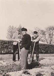 v.L.n.R. Johann Janssen, Wilhelm Inken und Johann Mammen