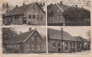 Postkarte von 1929. Die Rückseite besitzt einen Poststempel vom 07.09.1929